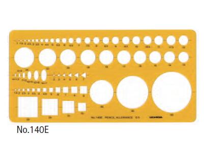 高品質 UCHIDA セール商品 テンプレート 012-0014 建築士受験者用定規 No.140E