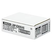 コクヨ「カラーレーザー&コピー用 紙ラベル(リラベル)はかどりタイプ」(A4・24面上下余白500枚)(LBP-E80646)