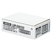 コクヨ「カラーレーザー&コピー用 紙ラベル(リラベル)はかどりタイプ」(A4・24面500枚)(LBP-E80150)