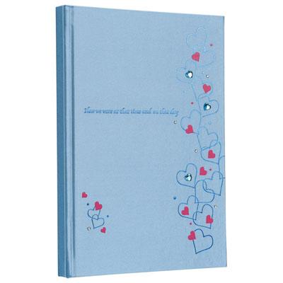 ナカバヤシ ラインストーン表紙 ギフトアルバム B5 10冊入 ハート ブルー アH-B5B-241-1-B