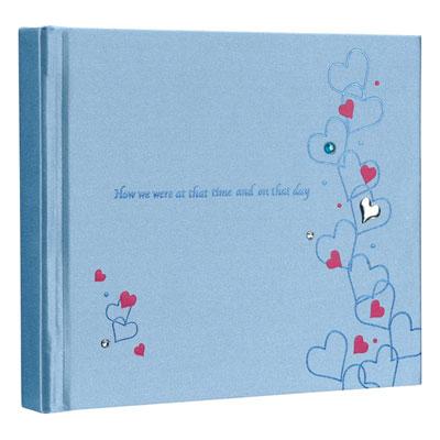 ナカバヤシ ラインストーン表紙 ギフトアルバム ミニサイズ 10冊入 ハート ブルー アH-MB-181-1-B