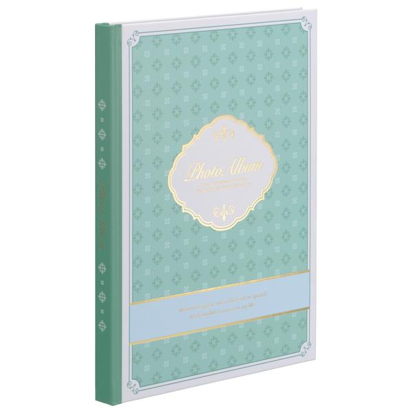 ナカバヤシ 100年台紙カラー ブック式 フリーアルバム B5 ブルー 10冊入り アH-B5B-160-B