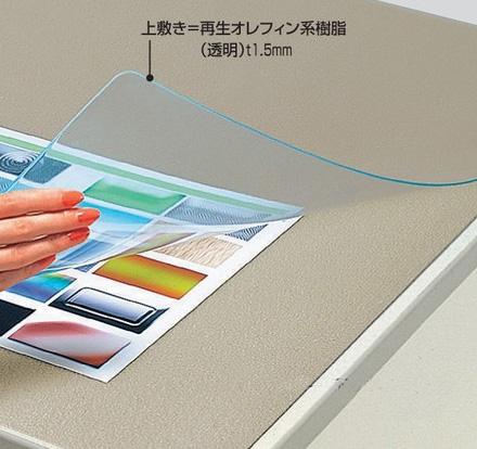 コクヨ「デスクマット軟質(再生オレフィン・透明)下敷きなし」1587x687mm(マ-967N)