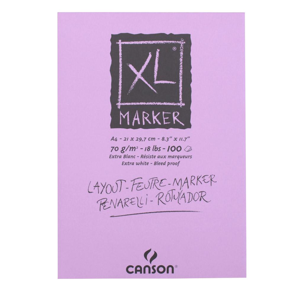 クロッキーブック キャンソンXL マーカーパッド A4 297×210mm 297-236 70g/m2 100枚×10冊