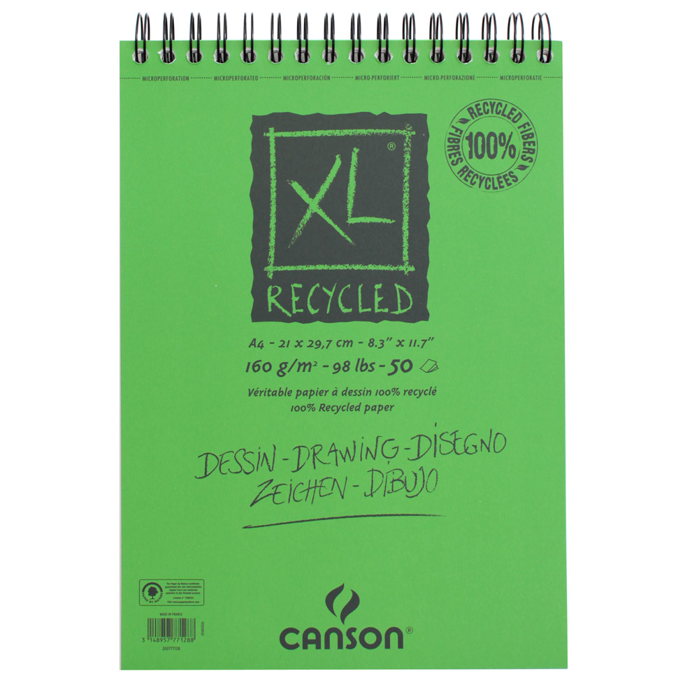 クロッキーブック キャンソンXL リサイクル A4 297×210mm 777-128 160g/m2 50枚×5冊