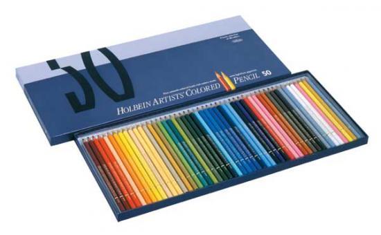 ホルベイン アーチスト色鉛筆 50色 紙函セット OP935