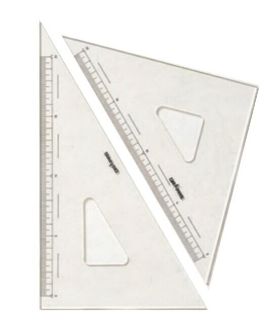 驚きの値段で DRAPAS ドラパス 三角定規 上等 目盛付 30cm 2mm厚 No.13-124