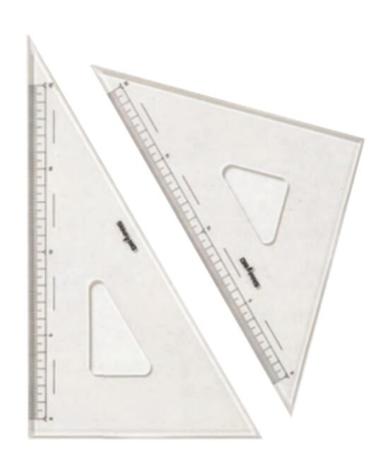 DRAPAS お見舞い ご予約品 ドラパス 三角定規 面取目盛付 3mm厚 No.13-331 15cm