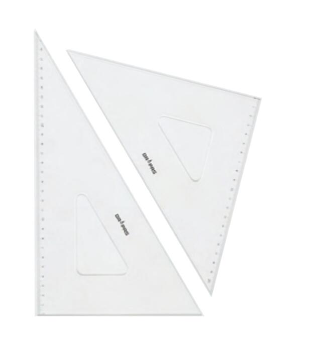 DRAPAS ドラパス 商品 三角定規 インクエッジ No.13-422 輸入 18cm 目盛付 2.5mm厚