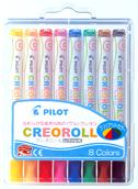 パイロット クレオロール ブリリアントカラー8色セット AO-CR6-S8
