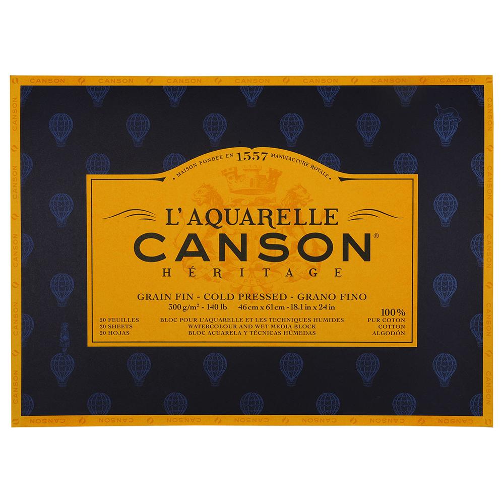 輸入スケッチブック キャンソン ヘリテージ水彩紙 ブロック 細目 460×610mm 100720006