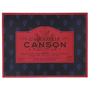 輸入スケッチブック キャンソン ヘリテージ水彩紙 ブロック 極細 310×410mm 100720009