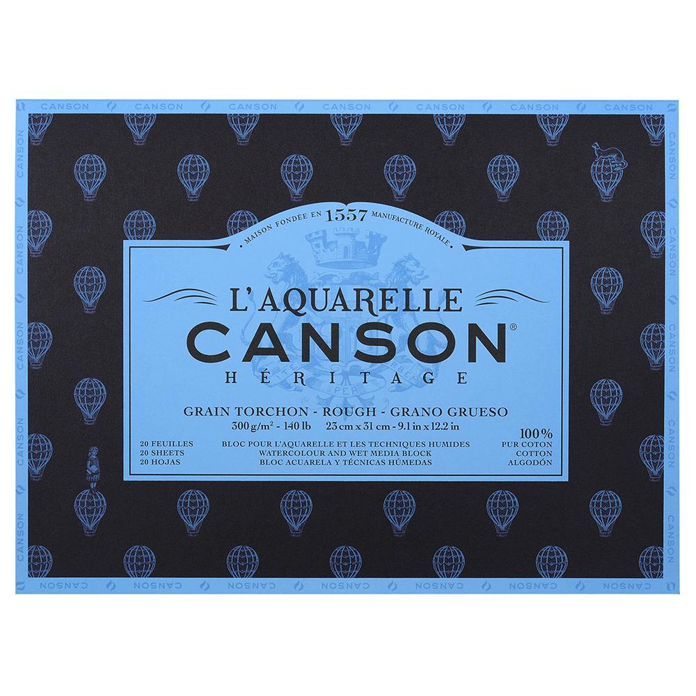 輸入スケッチブック キャンソン ヘリテージ水彩紙 ブロック 荒目 230×310mm 100720011