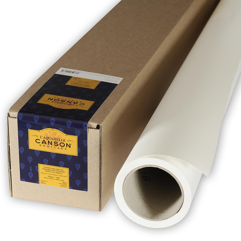 輸入スケッチブック キャンソン ヘリテージ水彩紙 ロール 細目 1520×4520mm 100720027