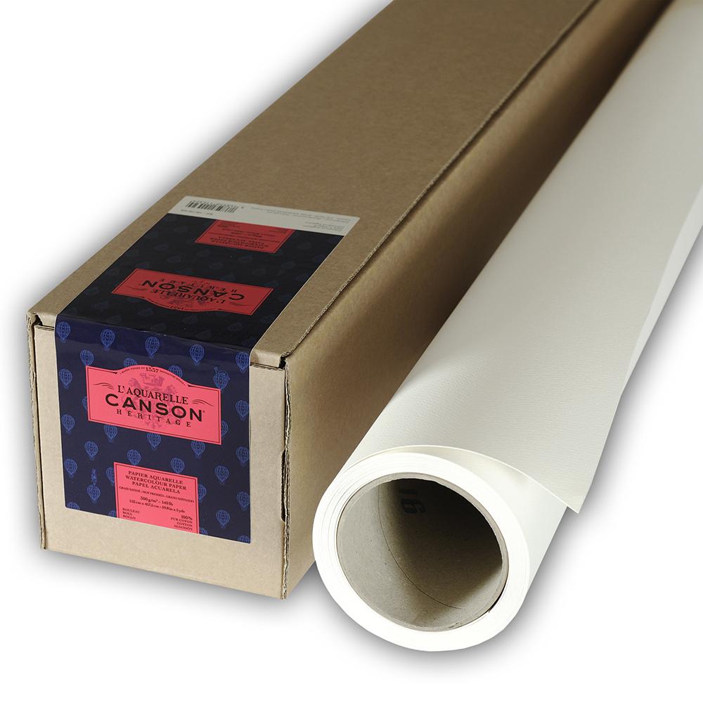 輸入スケッチブック キャンソン ヘリテージ水彩紙 ロール 極細 1520×4520mm 100720028