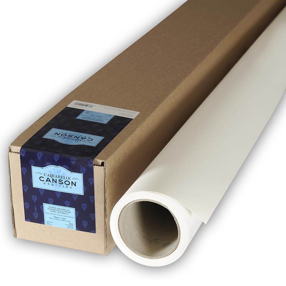 輸入スケッチブック キャンソン ヘリテージ水彩紙 ロール 荒目 1520×4520mm 100720029