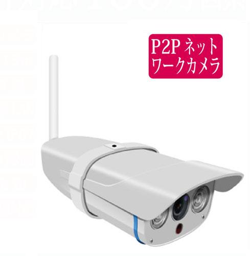 スマートフォンやPCから遠隔操作できる赤外線暗視ネットワークカメラ 送料無料 代金引換手数料無料 100万画素 屋外用ネットワークカメラ RCC-7100WP 無線LAN スマホ対応 SDカード IPカメラ 有線LAN 売り出し お得なキャンペーンを実施中 動体検知録画他 赤外線15m 録画 監視 rcc7100wp P2P 防犯