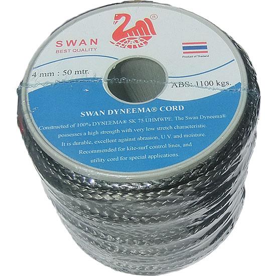 破断強度1,332kgの高強度ロープ ダイニーマロープ 4mm径x50m (DN-04-50)