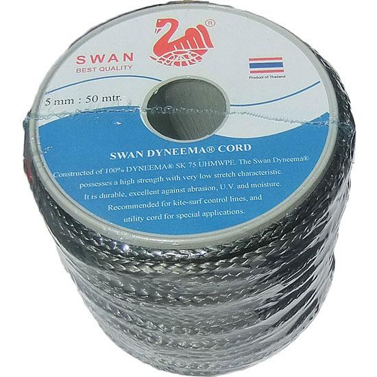 破断強度2,135kgの高強度ロープ ダイニーマロープ 5mm径x50m (DN-05-50)