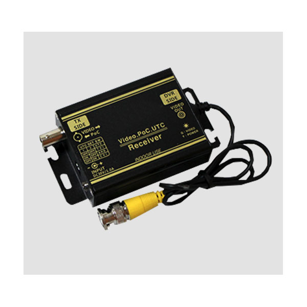 AHD/TVI/CVI用 1ch ワンケーブルシステム(受信機) catFE-B027 (電源重畳方式 ケーブル 1本 同軸)
