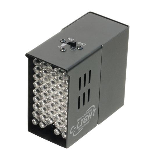 送料無料 不可視タイプ近赤外線LED搭載 赤外線投光器 C-LIGHT C-ライト 照射距離最大約5m 940nm 予約 見えないライト 不可視光 シーライト CLIGHT 定番スタイル Cライト