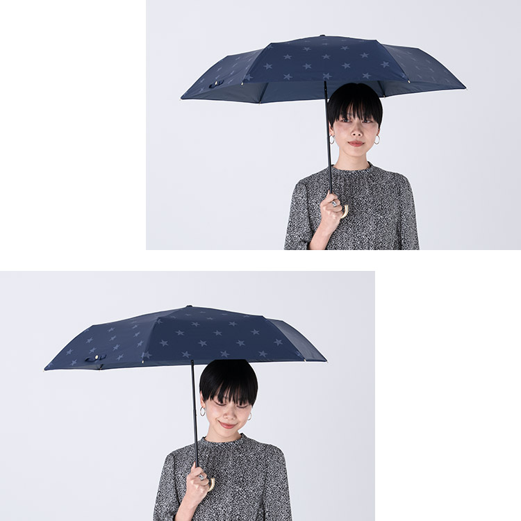 【Wpc.公式】折りたたみ傘遮光スタンプスターmini【日傘傘UVカット遮光晴雨兼用レディース】