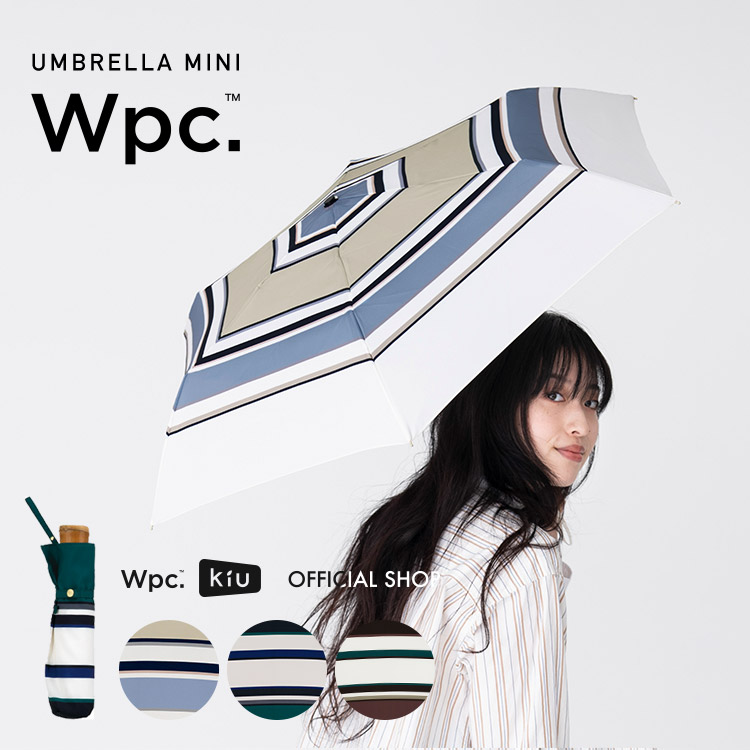 【Wpc.公式】折りたたみ傘ボールドボーダーmini【雨傘傘雨傘はっ水撥水晴雨兼用レディース】