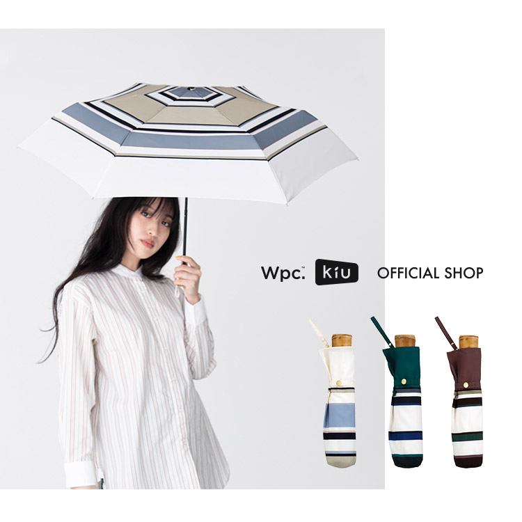 ギフト対象【Wpc.公式】折りたたみ傘ボールドボーダーmini【雨傘傘雨傘はっ水撥水晴雨兼用レディース】
