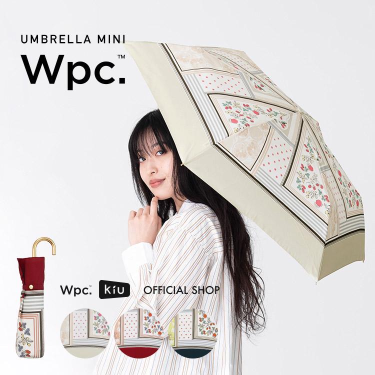 【Wpc.公式】折りたたみ傘フルーツスカーフmini【雨傘傘雨傘はっ水撥水晴雨兼用レディース】