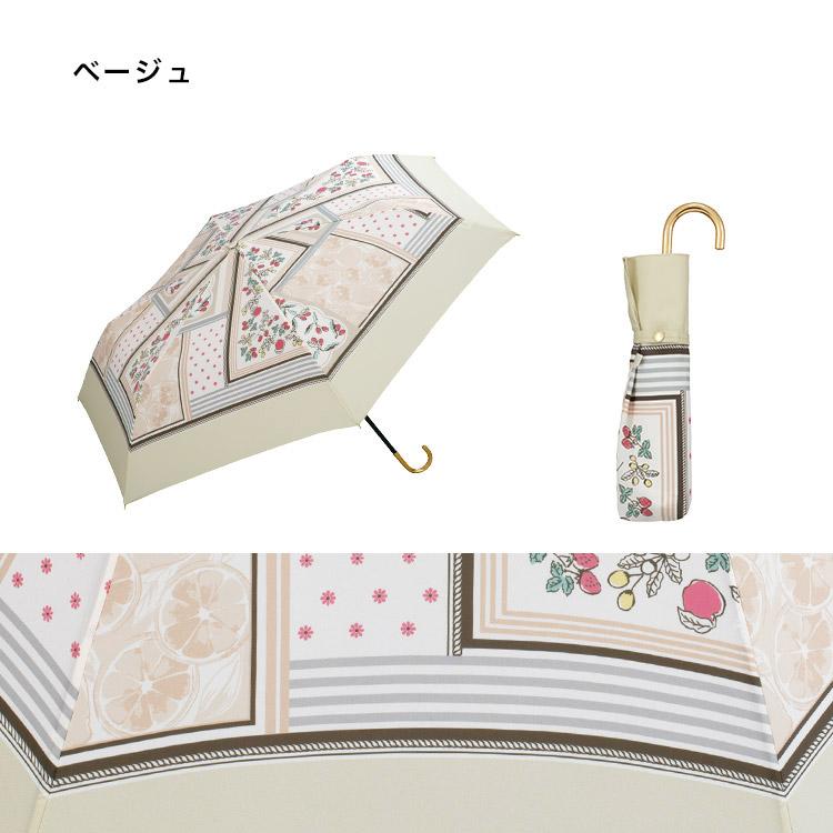 ギフト対象【Wpc.公式】折りたたみ傘フルーツスカーフmini【雨傘傘雨傘はっ水撥水晴雨兼用レディース】