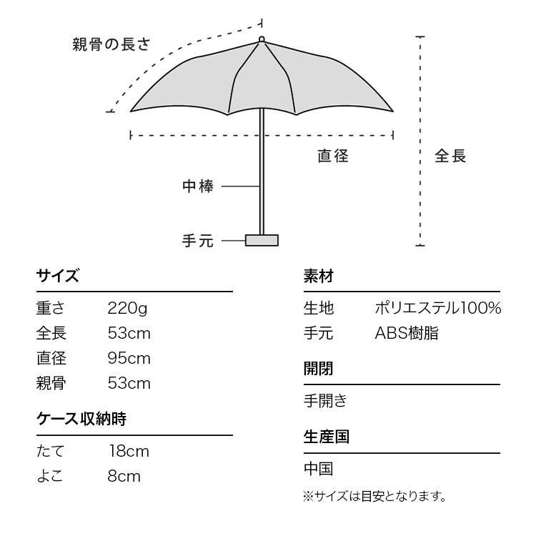 【Wpc.公式】折りたたみ傘あめmini【雨傘傘はっ水撥水晴雨兼用レディース】