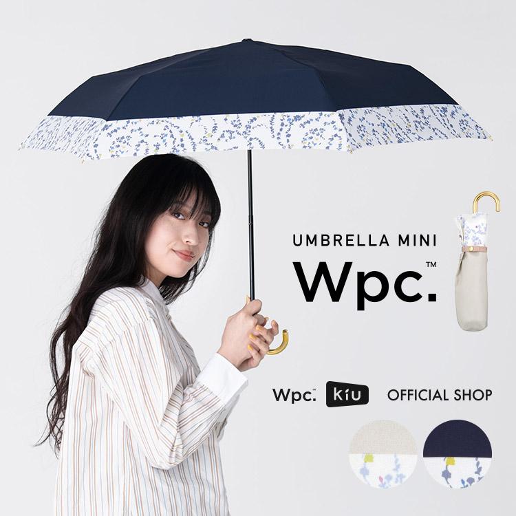 【Wpc.公式】折りたたみ傘リムペイズリーmini【雨傘傘雨傘はっ水撥水晴雨兼用レディース】