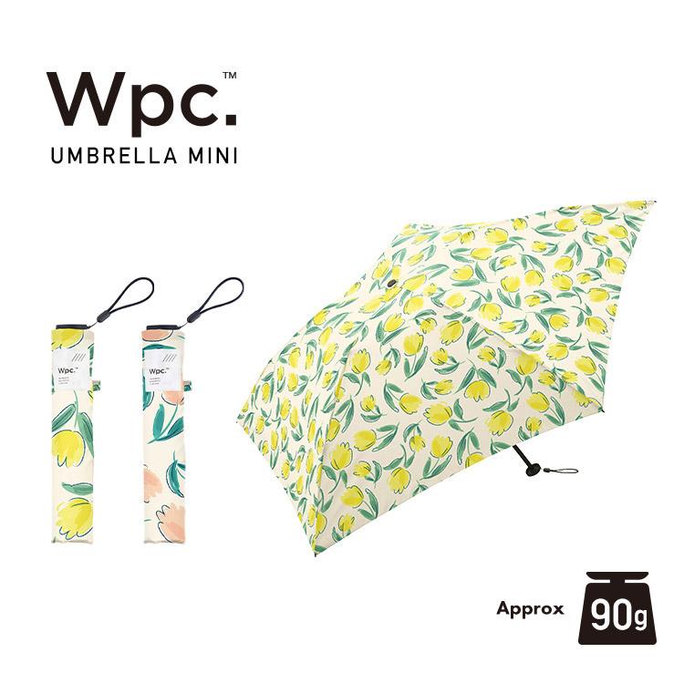 【Wpc.公式】折りたたみ傘 チューリップmini【雨傘 傘 はっ水 撥水 晴雨兼用 レディース】