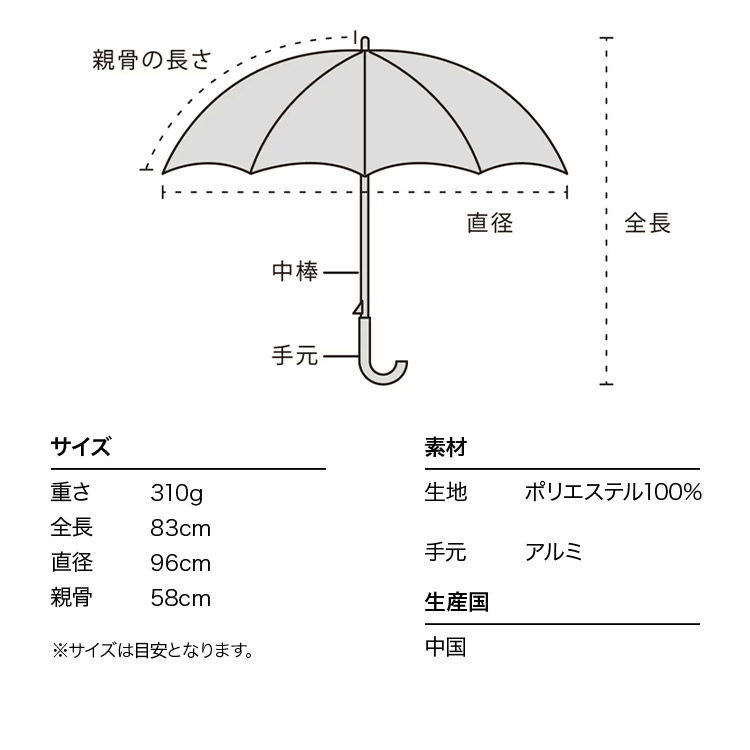 【Wpc.公式】長傘リムペイズリー【雨傘傘雨傘はっ水撥水晴雨兼用レディース】