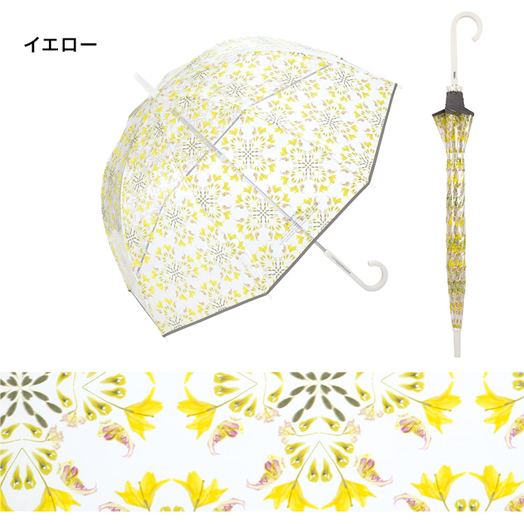 【Wpc.公式】長傘plantica×Wpc.フラワーアンブレラプラスチック【雨傘傘はっ水撥水晴雨兼用】