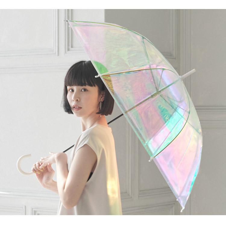 【Wpc.公式】ビニール傘オーロラビニール傘(手開き)【雨傘傘はっ水撥水レディース】