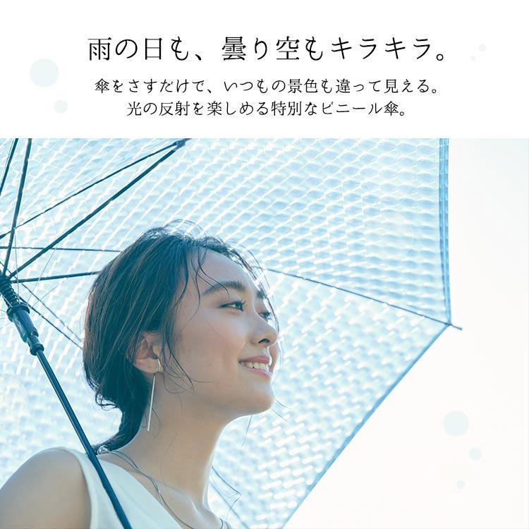 21SS【Wpc.公式】ビニール傘きらきらビニールアンブレラ【雨傘傘はっ水撥水レディース】