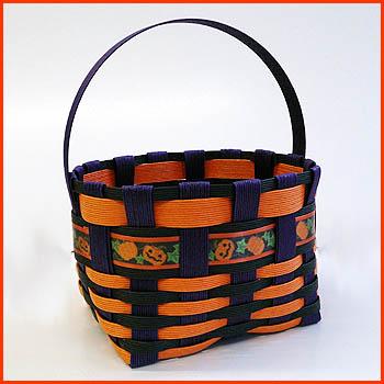 Paper band handicrafts trial kit ♪ ☆ Halloween basket☆