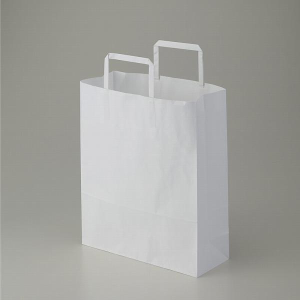 テイクアウト 蔵 雑貨 お菓子にぴったりの持ち手付き袋業務用のリーズナブルな手提げ袋です W26xD10xH31cm 紙袋 手提げ HEIKO 50枚入 白無地 シモジマ 26-4 25CB ディスカウント ラッピング H25チャームバッグ