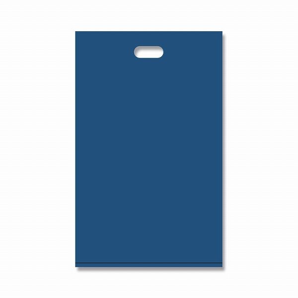 ラッピングカラー無地のポリ袋♪0.03×220×350mm ビニール袋 HEIKO シモジマ HDカラーポリ 22-35 ネイビー (50枚入り)