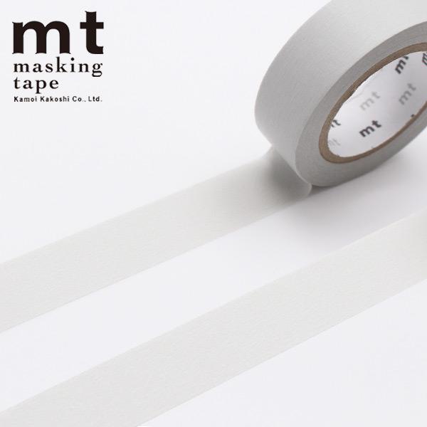 マスキングテープ マステ mt カモ井加工紙 mt1P 無地 パステルグレー (15mmx10m) MT01P312・1巻