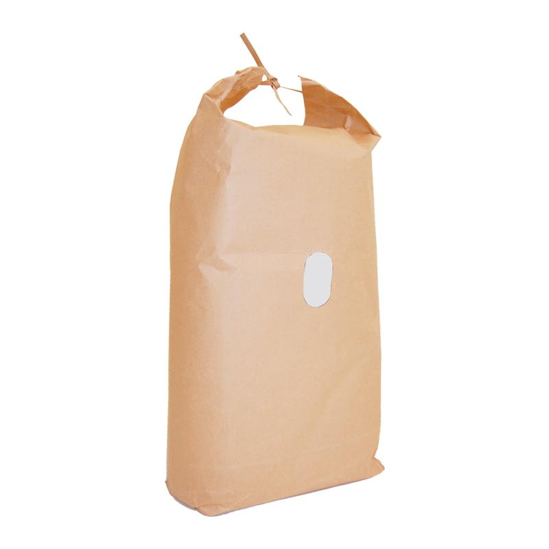 紙袋 米袋 5Kg 舟底 窓付 100枚