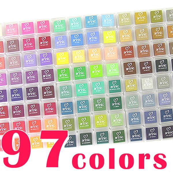 スタンプパッドセット ツキネコ アートニックS 圧巻!の全色セット(97色)
