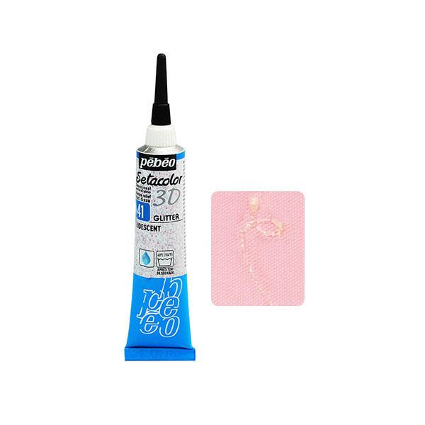 ネコポス対応商品 布に立体的な線が描ける絵具 ノズルから直接描けます 絵の具 流行のアイテム 布用ペベオ pebeo セタカラー 20ml557041 3Dグリッター イリデセント モデル着用 注目アイテム