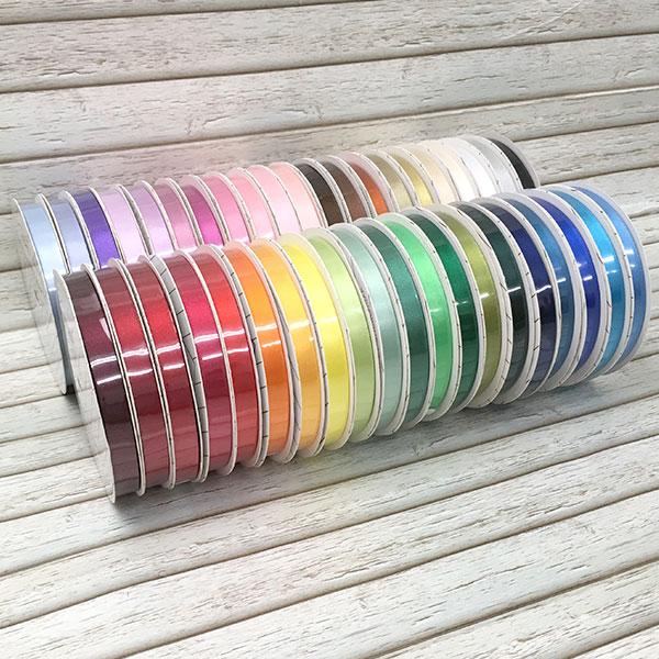 ラッピングリボン リボンセットHEIKO シモジマ憧れの全色セット シングルサテンリボン ANUENUE9mmセット(41色入り!) 9mmx20m