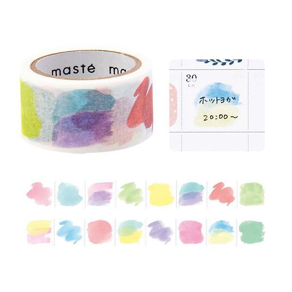 マスキングテープ マステMark's マークス maste水性ペンで書けるマスキングテープミシン目入り 手帳デコマンスリー用 水彩MST-FA11-C 22mm×5m