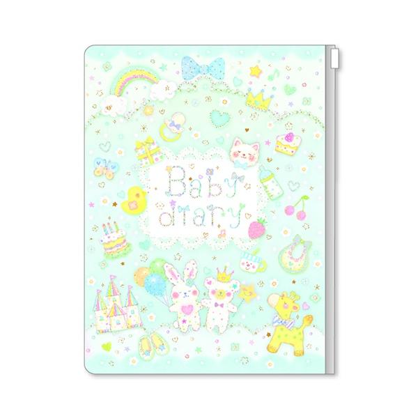 イラストレーターたけいみきさんが描くかわいいデザインの育児日記帳です!ご出産祝いにもどうぞ♪ ネコポスで送料無料Clothes-Pin クローズピンベビーダイアリーたけいみき ベビー男の子 DI15034
