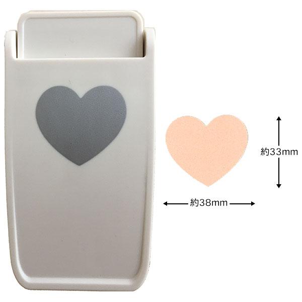 厚紙だけでなくコルクやマグネットシートもパンチ可能です 18%OFF クラフトパンチDECOP ふるさと割 デコップストロングパンチ ハート1.5インチ 約33×38mm