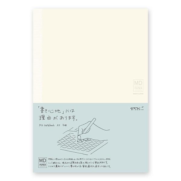 ラッピング【ネコポス対応商品】「書き心地の良さ」を追求した日本製のノート ノート midori ミドリMDノート A5 方眼罫15003006