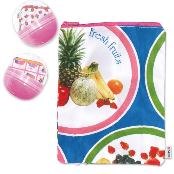 【ネコポス対応商品】なつかしの!包装紙デザイン HEIKO 包装紙 ポーチコレクション2 サークルフルーツ 20cm